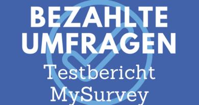 Bezahlte Umfragen - MySurvey Testbericht