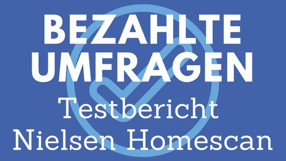Nielsen Homescan Erfahrungsbericht