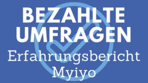Myiyo Erfahrungsbericht